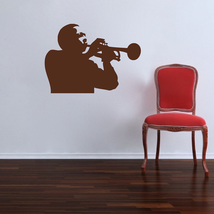 Trumpet Player Decal Adhesive Trumpet Vinyl Stickers Music - Vinyl wall decal adhesive