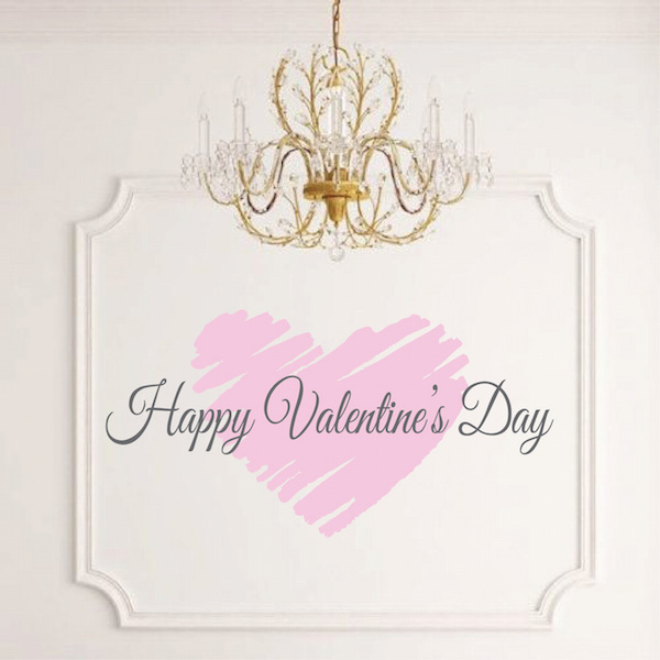 happy valentines day wall art sticker zoom