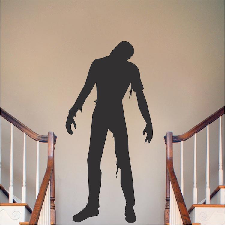Walking dead zombie decal mural halloween zombie decals for Mural walking dead