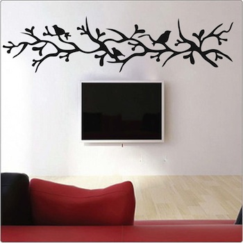 Merveilleux Branch With Birds Wall Decal