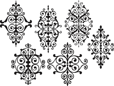 Rustic Ornament Wall Decals Zoom