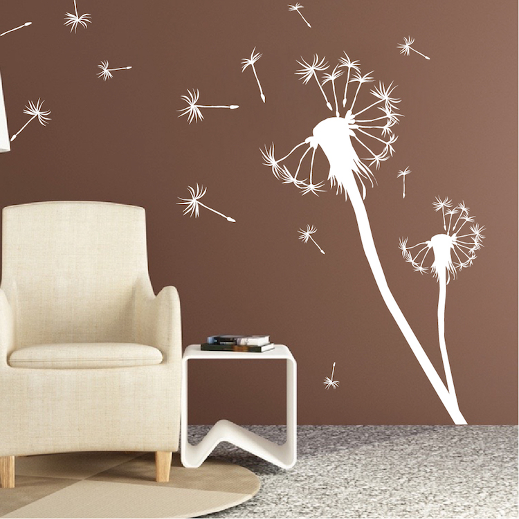 dandelion wall decal zoom - Wall Art Design Decals