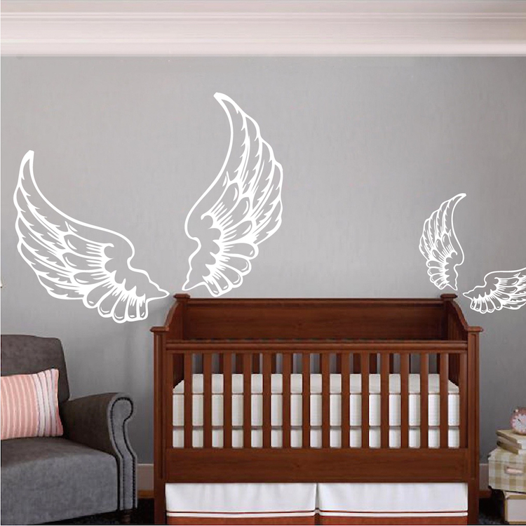 Design A Wall Sticker removable wall stickers wall decoration wall art nice quality pvc eco friendly non toxic hot sale Angel Wings Wall Decal