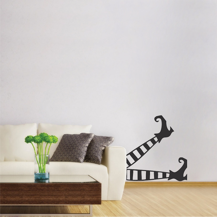 Witch Legs Wall Decal Mural Halloween Witch Wall Decal Stickers