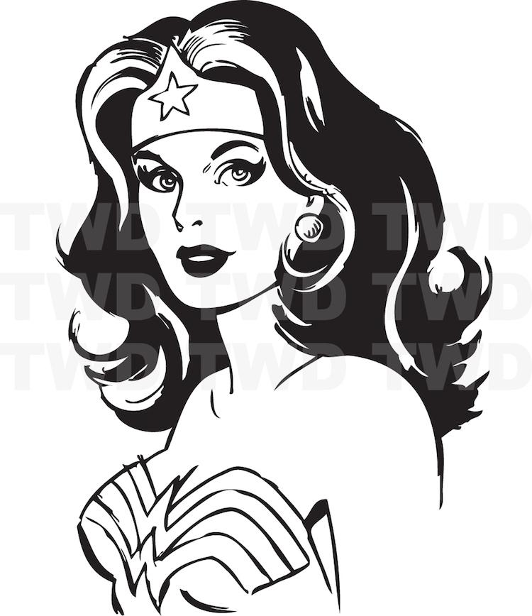Wonder Woman Wall Decal Decor _ Wonder Woman Decor ...