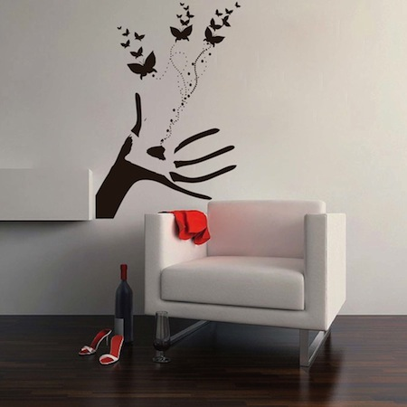 Butterflies Hand Wall Decal & Wall Decals From Trendy Wall Designs