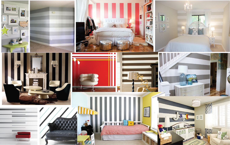 & Custom Stripes Wall Decals | Vinyl Wall Decals | Trendy Wall Designs