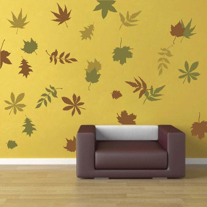 autumn leaves wall art design trendy wall designs