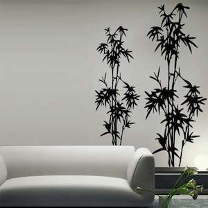 Design Wall Decal design wall decal home and cool designer wall stickers Bamboo Tree Wall Decal Zoom