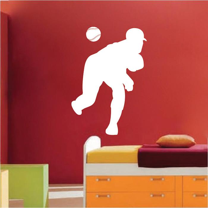 Baseball Pitcher Wall Art Sticker - Trendy Wall Designs