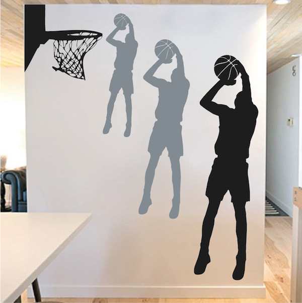 Basketball player wall mural trendy wall designs for Basketball mural