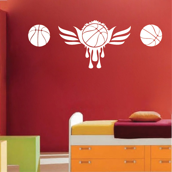Basketball wall mural trendy wall designs for Basketball wall mural