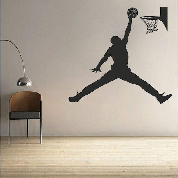 Elegant Basketball Jordan Wall Decal. Zoom