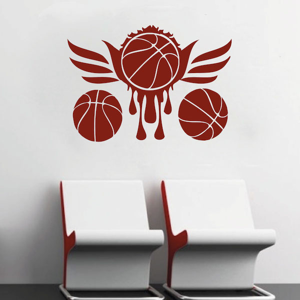 Basketball wall mural trendy wall designs for Basketball mural