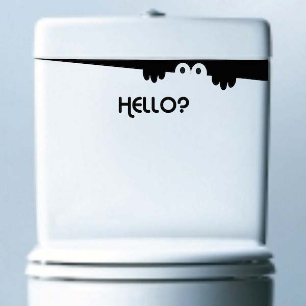 Hello Visitor Sticker Decal Bathroom Stickers Trendy