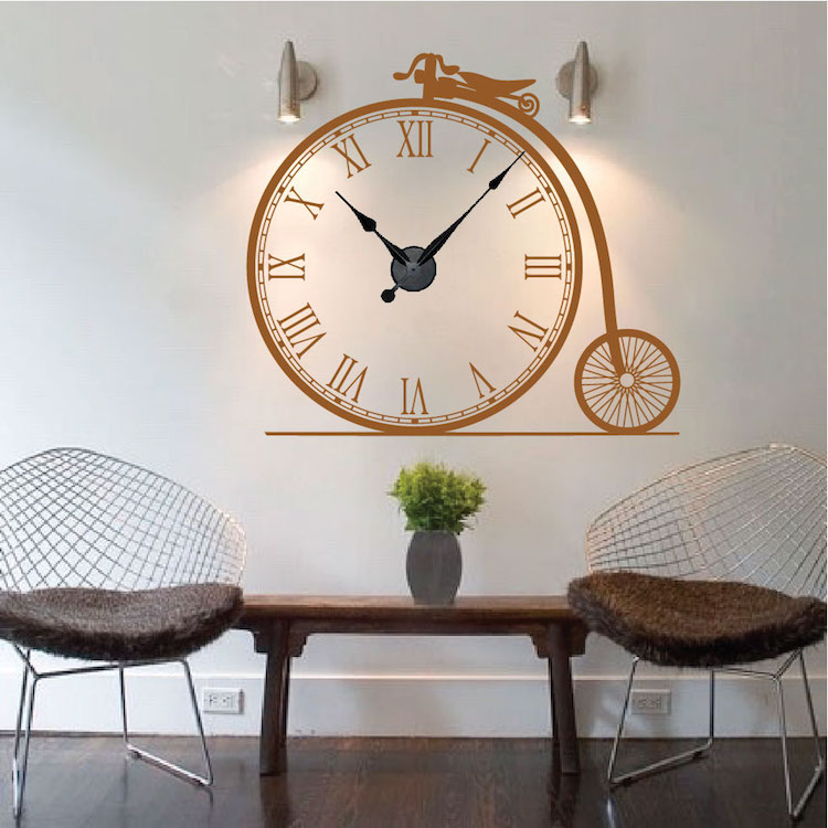 Wall clock decal l wall decal for Clock wall mural