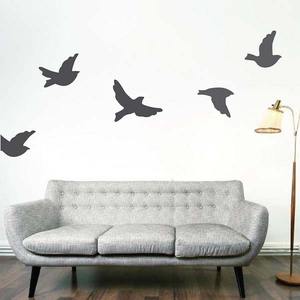 flying birds wall decals zoom