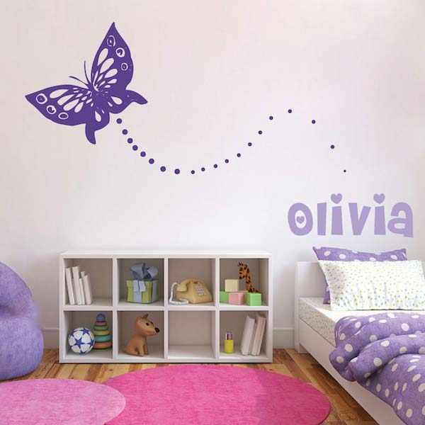 butterfly dots wall decal zoom - Wall Art Design Decals