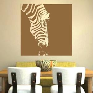 Zebra Drinking Wall Decal Vinyl Wall Art From Trendy