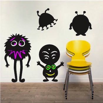 lil monsters chalkboard wall decals zoom - Wall Decals Designs