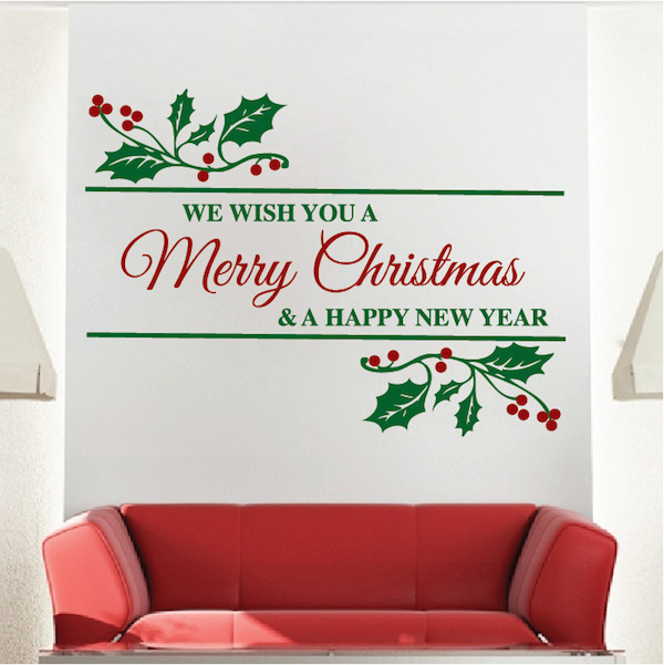 Merry christmas wall quote trendy wall designs for Christmas decoration quotes