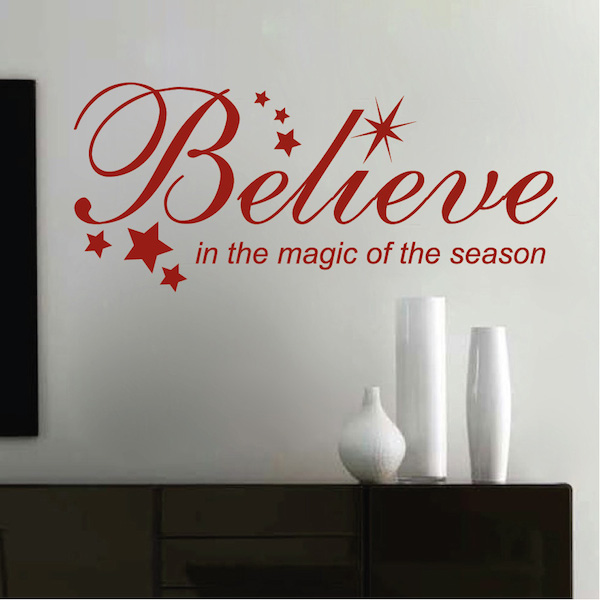 Christmas quotes with believe ideas christmas decorating for Christmas decoration quotes