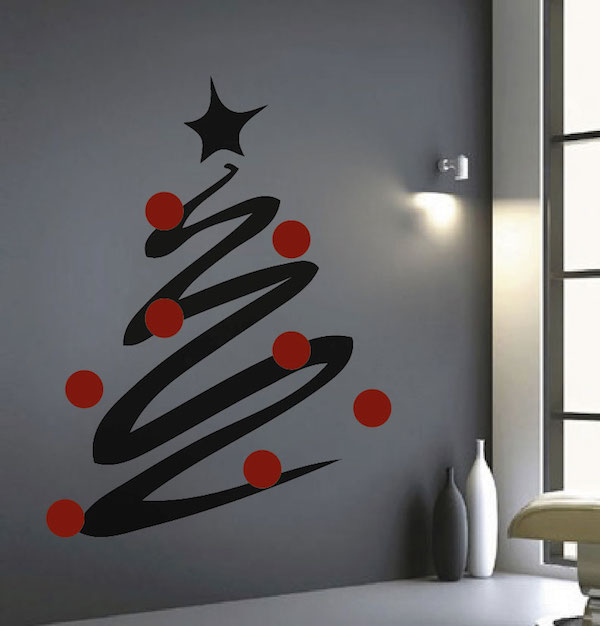High Quality Modern Christmas Tree Wall Decal. Zoom