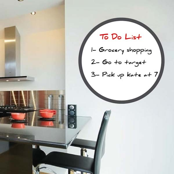 Round Dry Erase Wall Decal. Zoom