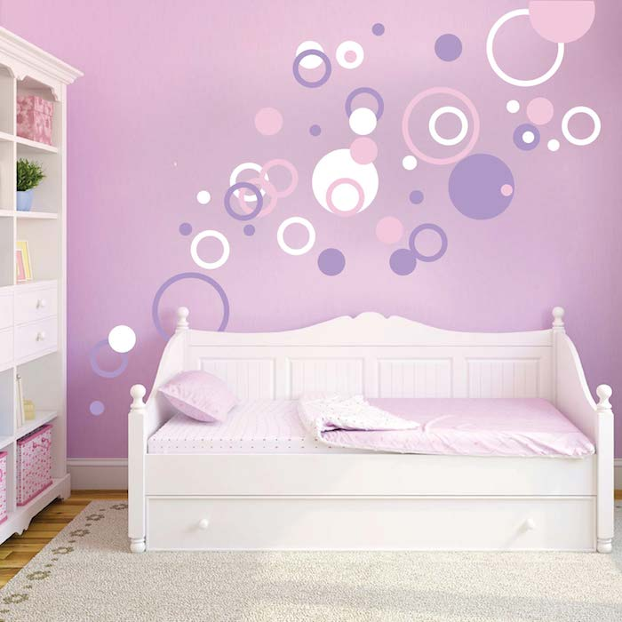 Trendy Wall Art dots and rings wall art designs | trendy wall designs