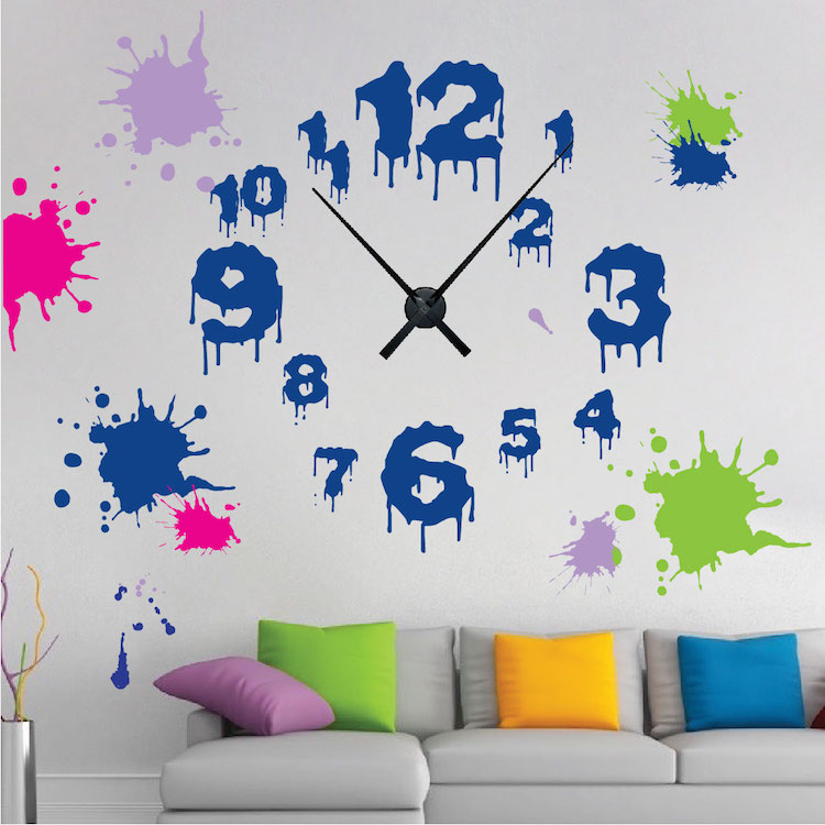 Dripping Clock Wall Decal Trendy Wall Designs - Wall decals clock