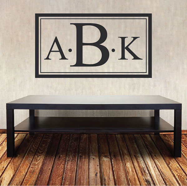 Custom Monogram Wall Decal - Personalized Names for The Home Or Office - Custom Nursery Names - Kids Bedroom Names - Trendy Wall Designs & Custom Monogram Wall Decal - Personalized Names for The Home Or ...
