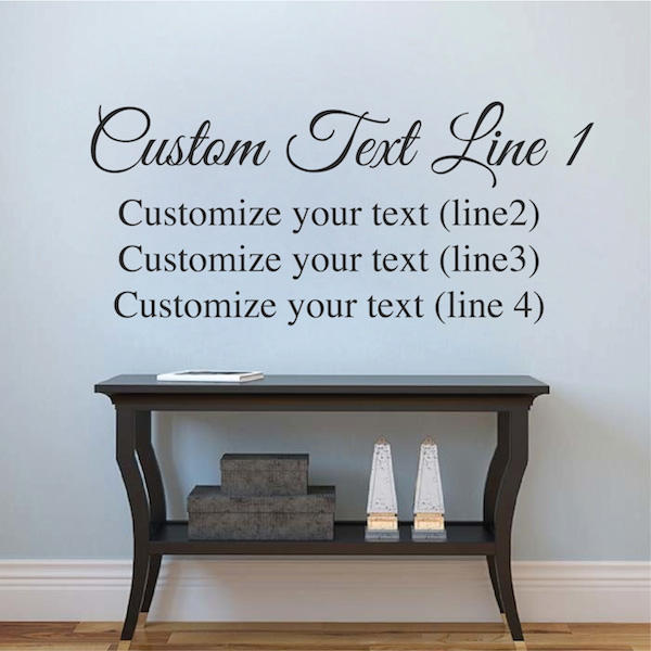 Customize Two Fonts Vinyl Decal Trendy Wall Designs - Custom vinyl decal text