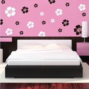 flower wall art design - Wall Art Design Decals