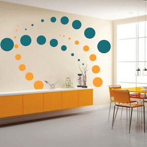 contemporary evolution dots wall decals trendy wall designs. Black Bedroom Furniture Sets. Home Design Ideas