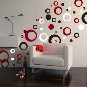 contemporary rings dots wall decals - Wall Art Design Decals