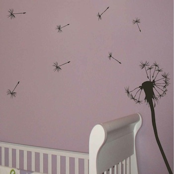 Cute Dandelion Wall Decal. Zoom