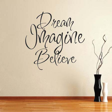 ... Believe Wall Art Design. Zoom & Dream Imagine Believe Wall Art Design | Trendy Wall Designs