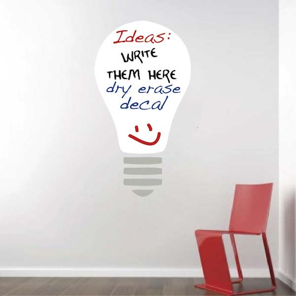 Dry Erase Light Bulb Wall Decal. Zoom Part 39