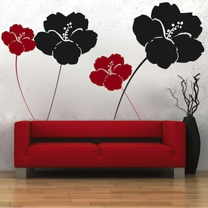 Cool Flower Wall Decals Trendy Wall Designs