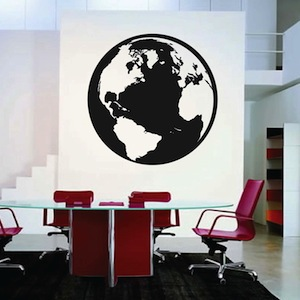 Trendy Wall Art classic globe wall decal & vinyl wall art from trendy wall designs