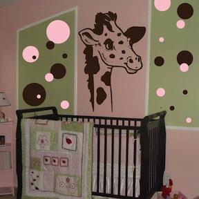 Nursery Room Giraffe Wall Decal. Zoom