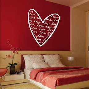 Trendy Heart Wall Decal. Zoom