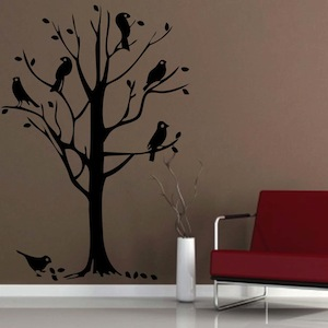 Bird Tree Wall Mural Decal. Zoom Part 29