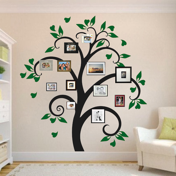 Picture Frame Tree Wall Decal Tree Decals Trendy Wall Designs - Wall decals about family