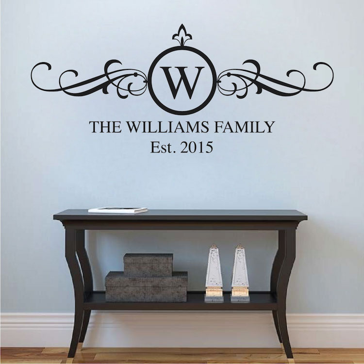 Bon Family Surname Decal Applique. Zoom