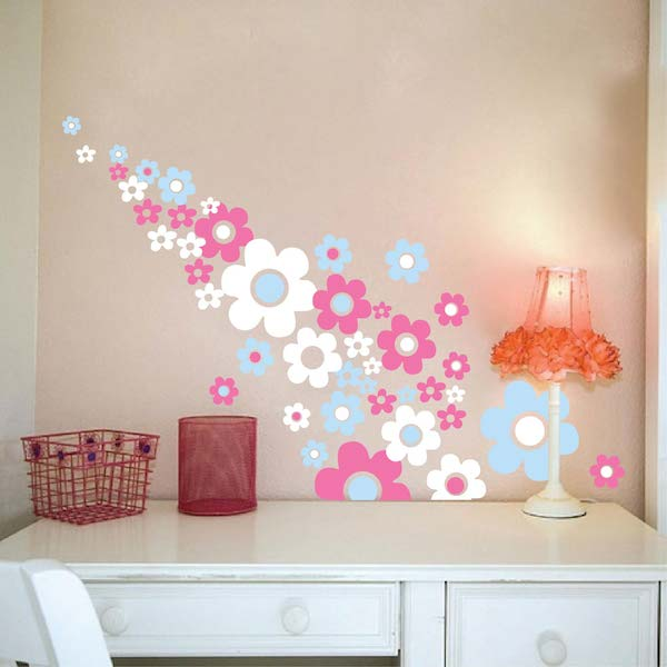 Flower Power Wall Decals. Zoom
