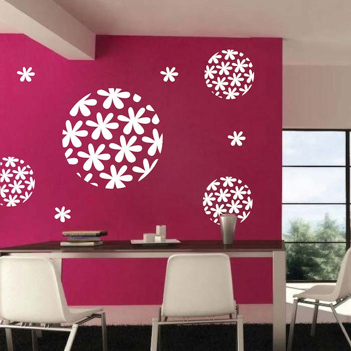 Flora Sphere Wall Decal Trendy Wall Designs