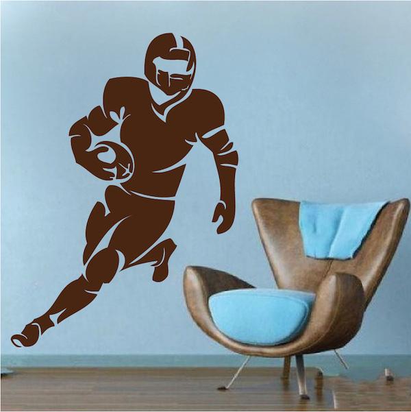 Football Player Wall Art Appliqué. Zoom