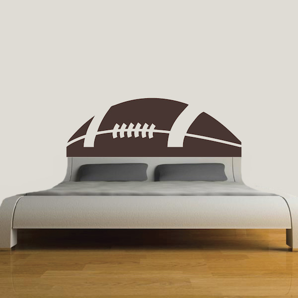 Football Headboard Decal Zoom