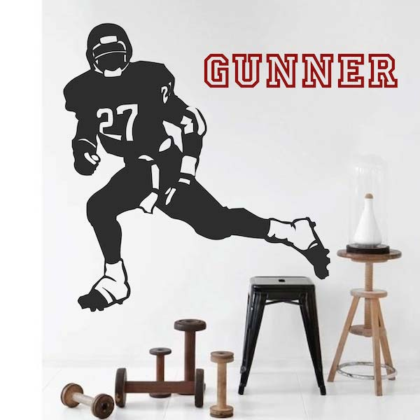 Football Player Wall Sticker. Zoom